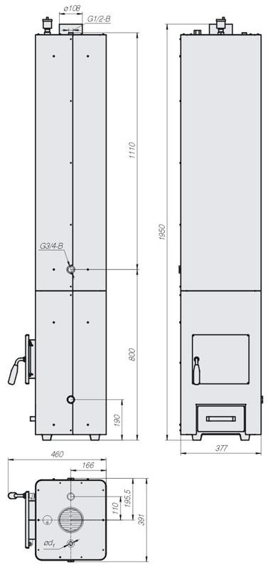 Колонка водогрейная Данко КВЦ-90
